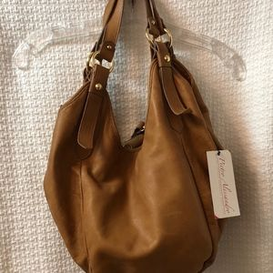 Pietro Alessandro Leather Hobo-Style Leather Bag